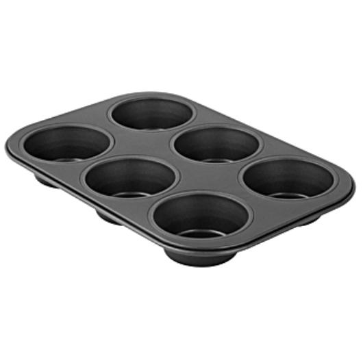 6 adagos tapadásmentes Zenker Black Metallic muffin sütőforma