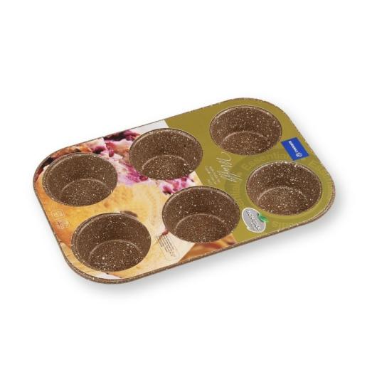 Korkmaz 6 adagos tapadásmentes muffin sütőforma