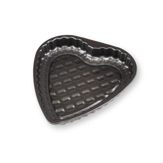 Rácsos szív alakú piteforma